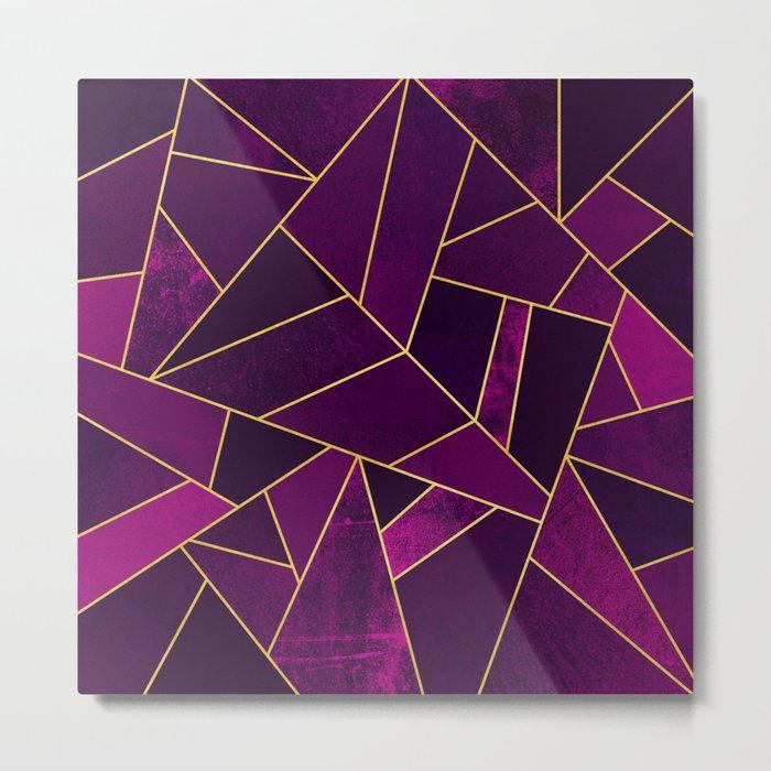 Purple Stone Metal Print