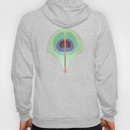 Peacock Feather Art Deco Hoody