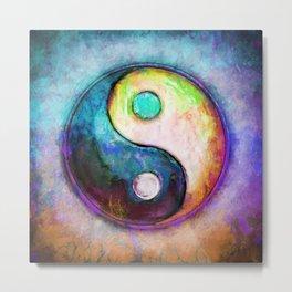 Yin Yang - Colorful Painting V Metal Print