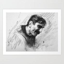 Oil Man Art Print