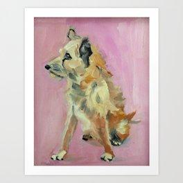 Marvelous Mystery Mutt Dog Portrait Art Print