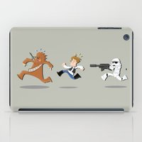 han solo iPad Cases featuring Han Solo & Chewbacca by Ana Xoch Guillén