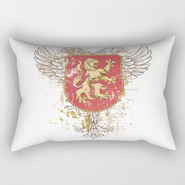 Coat of Arms Shield - Griffin Seal - Crown Lion and the Mark Rectangular Pillow