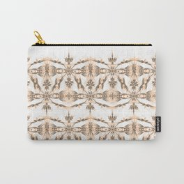 Kat Scratch Tribal Pattern • Peach & Taupe Carry-All Pouch