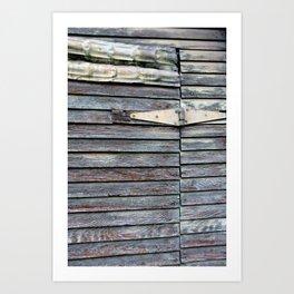 Green Barn Hinge Art Print