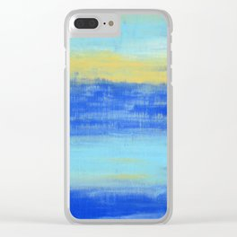 Relaxing Beach Aqua Turquiose Nautical Abstract Art Clear iPhone Case
