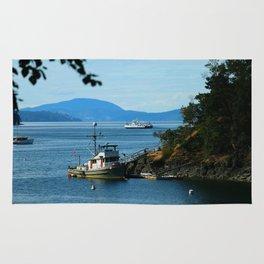 Harbour at Butchart´s Garden Rug