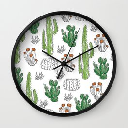 Cacti or Cactuses? Wall Clock