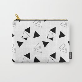 Modern Black Triangles Carry-All Pouch
