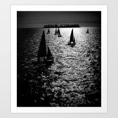 Sailing Silhouettes Art Print