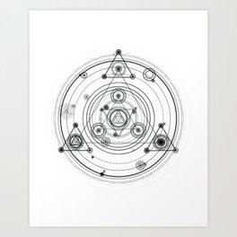 Sacred geometry and geometric alchemy design Art Print