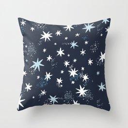 Starry night patterns Throw Pillow