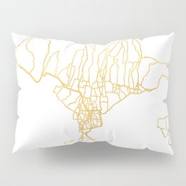 BALI INDONESIA CITY STREET MAP ART Pillow Sham