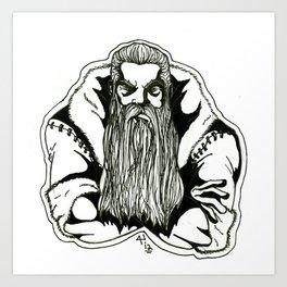 Mad Santa! Art Print