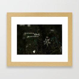 Snowflake Details Framed Art Print
