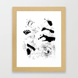 Dance between fate and free will Framed Art Print
