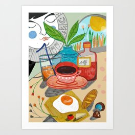 Cosy brunch Art Print