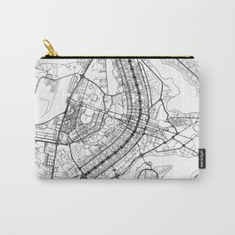 Brasilia Map White Carry-All Pouch