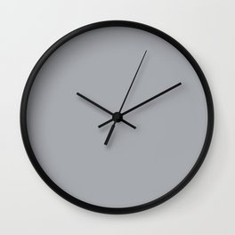 Eye Contact ~ Light Gray Feathers Wall Clock