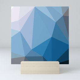 Shades Of Blue Triangle Abstract Mini Art Print