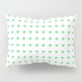 Heart Green Texture Pillow Sham