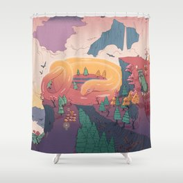 The creature of the mountain Shower Curtain