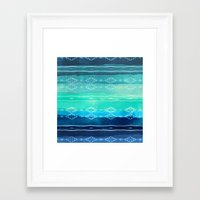 aelwen Framed Art Prints featuring ocean by spinL