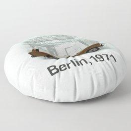 A Trabbi in Berlin Floor Pillow