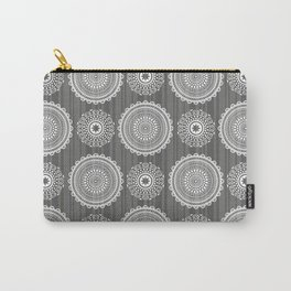 Circles on dark grey. Bold symmetrical pattern. Carry-All Pouch