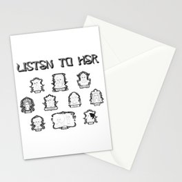 Listen to Her II Stationery Cards