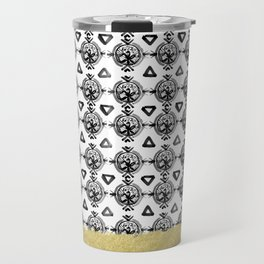 Black Gold Boho VI Travel Mug