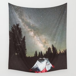 Camping Under the Milky Way Wall Tapestry