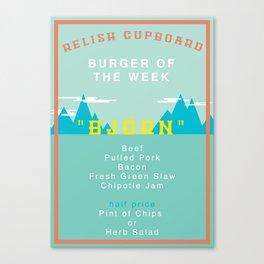 Burger Of The Week Canvas Print