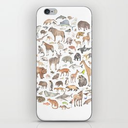 100 animals iPhone Skin