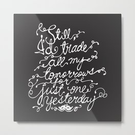 Fall Out Boy - 'Just One Yesterday' Metal Print