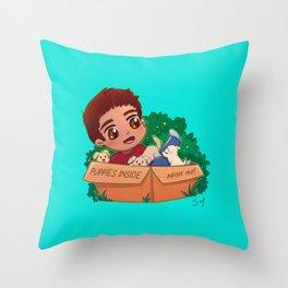 Scott is a Puppy Throw Pillow