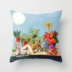 Siren Island Throw Pillow