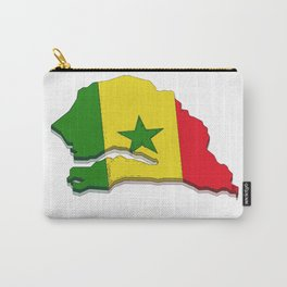 Senegal Map with Senegalese Flag Carry-All Pouch