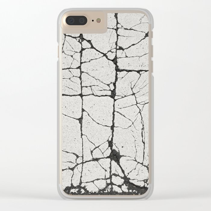 Cracked Crossing Clear iPhone Case