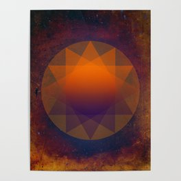 Merkaba, Abstract Geometric Shapes Poster