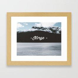 Norge Framed Art Print