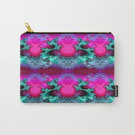 Here be Dragons (hot magenta-mint) Carry-All Pouch
