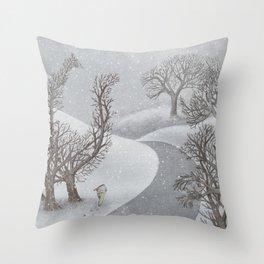 The Night Gardener - Winter Park Throw Pillow