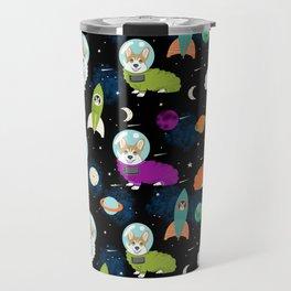 Welsh Corgi outer space cadet space camp rockets astronaut dog breed corgis gifts Travel Mug