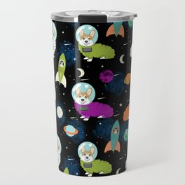 Welsh Corgi outer space cadet space camp rockets astronaut dog breed corgis gifts Travel Mug