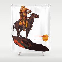 Native American Sunset Shower Curtain