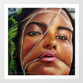 Self Portrait (Celica Ledesma) Just Face Art Print