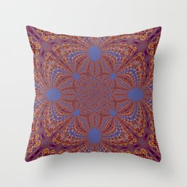 Sequential Baseline Mandala 12o Throw Pillow