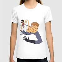 luffy T-shirts featuring luffy versus mister fantastic by Bastonmag