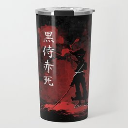 Black Samurai Red Death Travel Mug